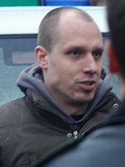 Martin Elsner (2005 bei einem Nazi-Aufmarsch in Lüneburg)