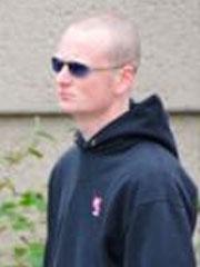 Felix Stolte (bei einer Nazikundgebung im Mai 2010 in Delmenhorst)