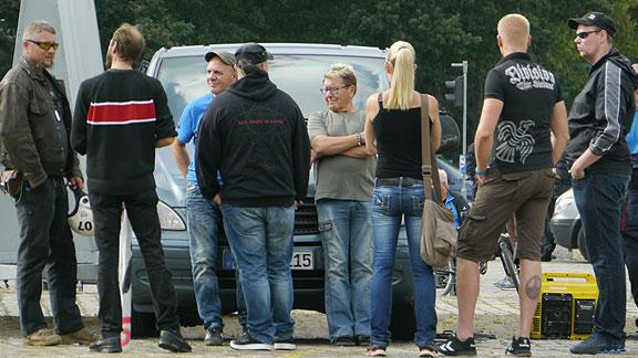 Meiers Publikum, am rechten Bildrand der Bremer Nazi Alexander Greinke