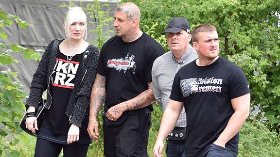 """""""Tag der deutschen Zukunft"""" in Goslar (Juni 2018), von links nach rechts: unbekannt, Björn Bade, Andreas von Scheidt, Kevin Bliefernich"""