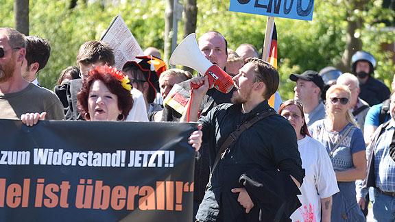 Vorschreier rassistischer Parolen: Lars Steinke aus Göttingen (Vorsitzender der JA in Niedersachsen)