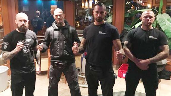 CM-Security in Aktion: Lars, Christian Steiner, Cheffchen Mohrmann und Dennis Dollberg